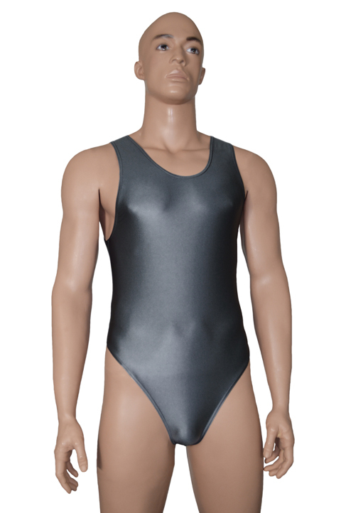 Wetlook-Herren-Stringbody-anthrazit-Front