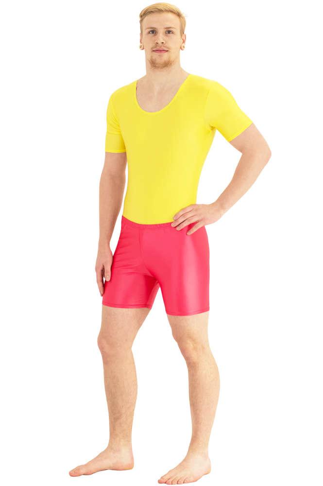 Herren hotpants transparent latex