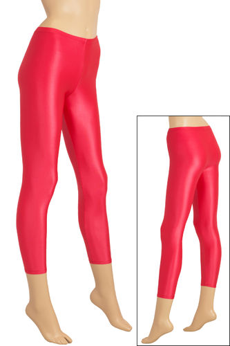 Damen Wetlook Leggings