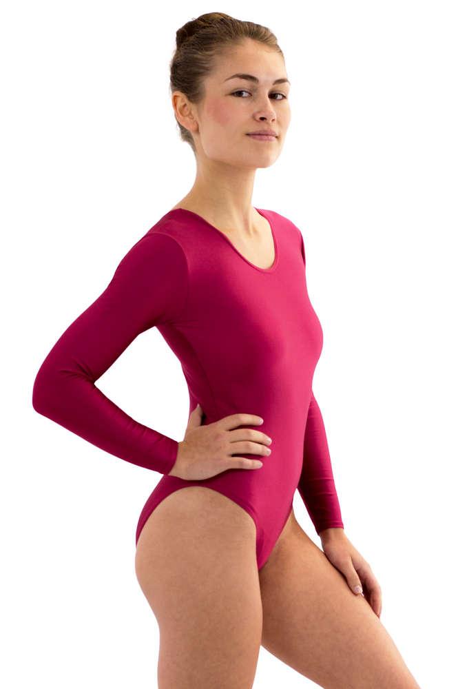 c9c86ab5da Damen Body lange Ärmel Rundhals - Elastische Sportbekleidung von ML ...