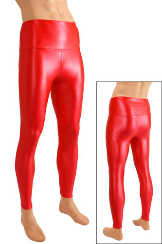Herren Wetlook High-Waist Leggings