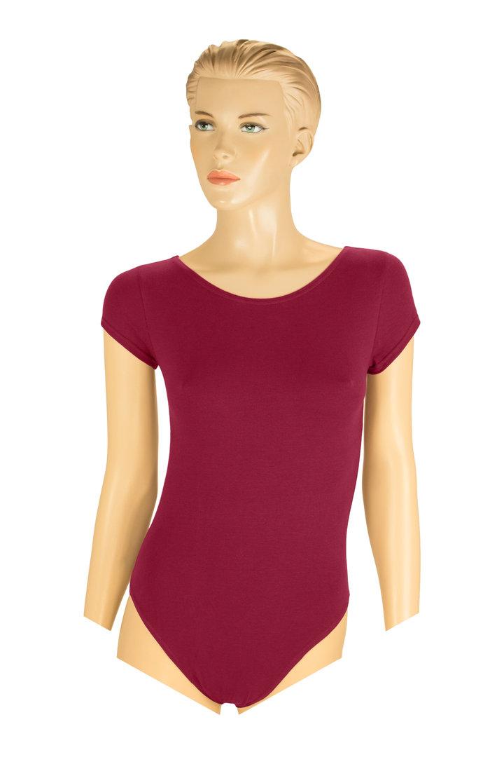 f9714ec323 Damen Baumwoll-Body breiter flacher Halsausschnitt kurze Ärmel ...