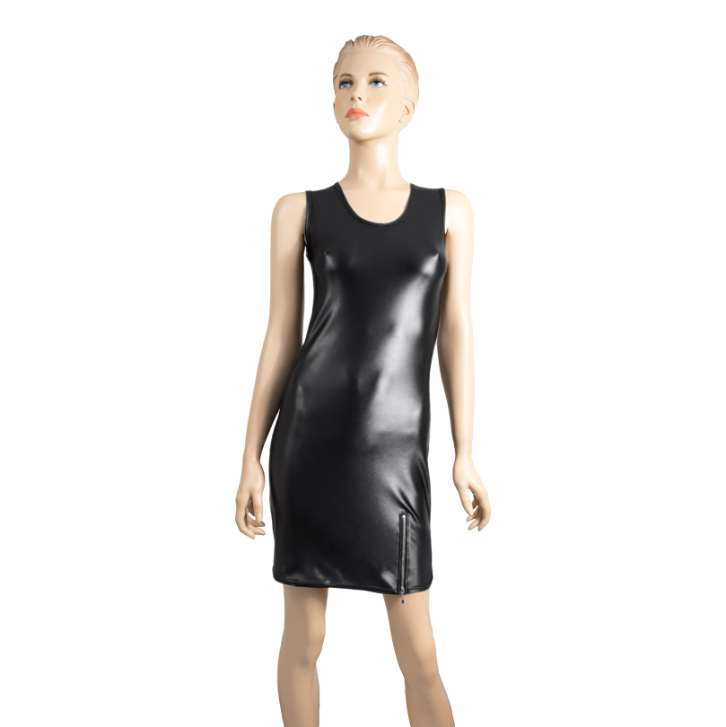 ML-Sport24-Damen-Wetlook-Kleid
